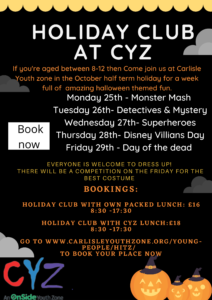 October Holiday Club 2021 – Bookings Open!